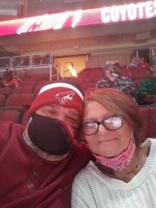 Marton attended Arizona Coyotes vs. Anaheim Ducks on Feb 24th 2021 via VetTix
