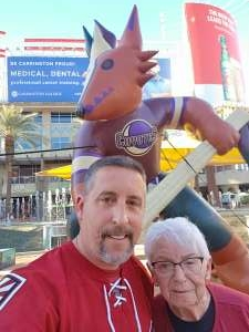 Anthony Grillo attended Arizona Coyotes vs. Anaheim Ducks on Feb 24th 2021 via VetTix