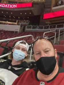 Karl attended Arizona Coyotes vs. Anaheim Ducks on Feb 24th 2021 via VetTix