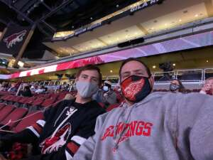 Scott Leach attended Arizona Coyotes vs. Anaheim Ducks on Feb 24th 2021 via VetTix