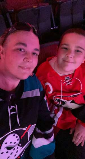 Nelson attended Arizona Coyotes vs. Anaheim Ducks on Feb 24th 2021 via VetTix
