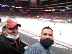 Rudy attended Arizona Coyotes vs. Anaheim Ducks on Feb 24th 2021 via VetTix