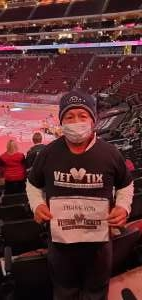 Sam attended Arizona Coyotes vs. Anaheim Ducks on Feb 24th 2021 via VetTix