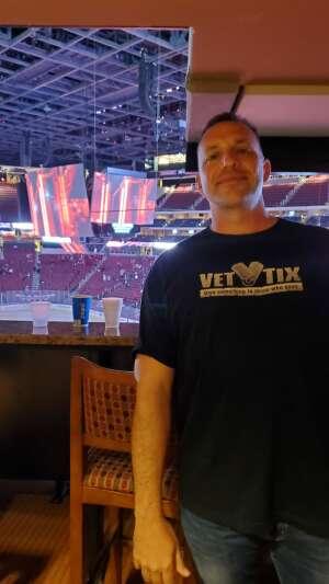 TJ W. attended Arizona Coyotes vs. Anaheim Ducks on Feb 24th 2021 via VetTix
