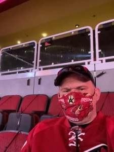 Eddie attended Arizona Coyotes vs. St. Louis Blues on Feb 12th 2021 via VetTix