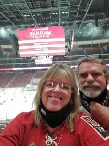 George attended Arizona Coyotes vs. St. Louis Blues on Feb 12th 2021 via VetTix