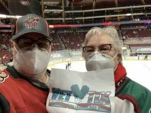 Ray attended Arizona Coyotes vs. St. Louis Blues on Feb 12th 2021 via VetTix