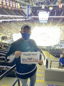 Curtis attended Jacksonville Icemen vs. South Carolina Stingrays - ECHL (Sun) on Feb 19th 2021 via VetTix