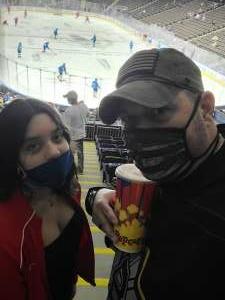 Ray attended Jacksonville Icemen vs. South Carolina Stingrays - ECHL (Sun) on Feb 19th 2021 via VetTix