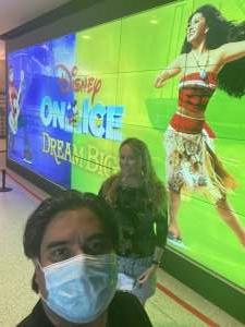 Alfredo Guevara attended Disney on Ice Presents Dream Big on Mar 25th 2021 via VetTix