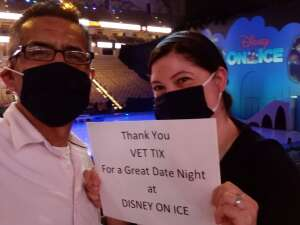 DaveNDebbie attended Disney on Ice Presents Mickey's Search Party on Apr 7th 2021 via VetTix