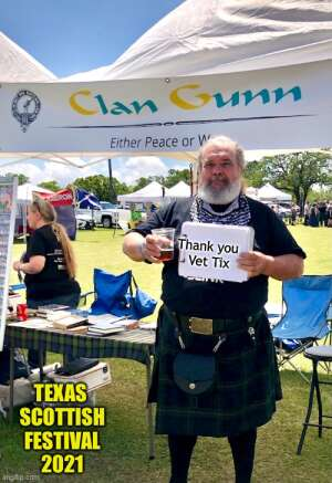 Mike attended Texas Scottish Festival & Highland Games on Apr 30th 2021 via VetTix