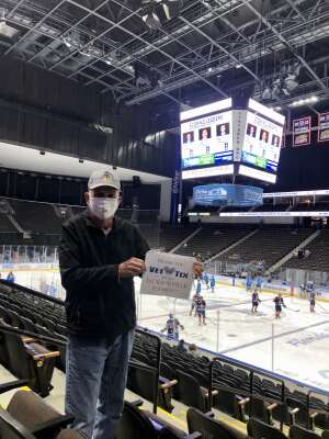 Ray attended Jacksonville Icemen vs. Greenville Swamp Rabbits - ECHL on Mar 11th 2021 via VetTix