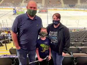 kevin taylor attended Jacksonville Icemen vs. Greenville Swamp Rabbits - ECHL on Mar 12th 2021 via VetTix