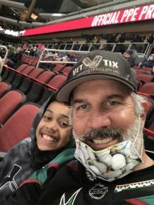 B attended Arizona Coyotes vs. Colorado Rockies on Mar 22nd 2021 via VetTix