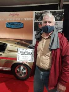 James  attended Barrett-jackson 2021 Scottsdale Auction on Mar 22nd 2021 via VetTix