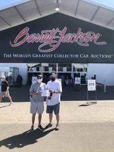 Dean attended Barrett-jackson 2021 Scottsdale Auction on Mar 22nd 2021 via VetTix