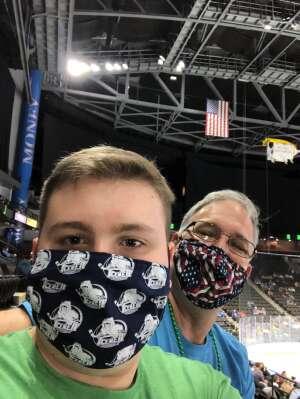 Chris attended Jacksonville Icemen vs. Orlando Solar Bears - ECHL on Mar 17th 2021 via VetTix