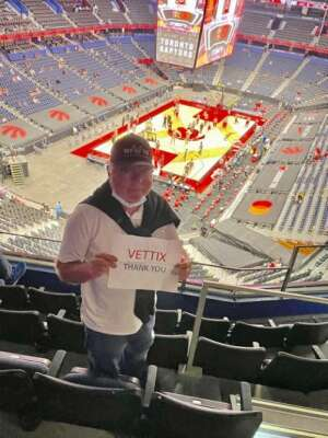 George attended Toronto Raptors vs. Denver Nuggets - NBA on Mar 24th 2021 via VetTix
