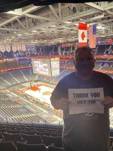 K Hall attended Toronto Raptors vs. Denver Nuggets - NBA on Mar 24th 2021 via VetTix