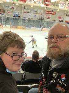 Larry Mclellan attended Bismarck Bobcats vs Aberdeen Wings - NAHL on Apr 23rd 2021 via VetTix