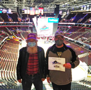 Moose attended Cleveland Monsters vs. Texas Stars - AHL on Mar 28th 2021 via VetTix