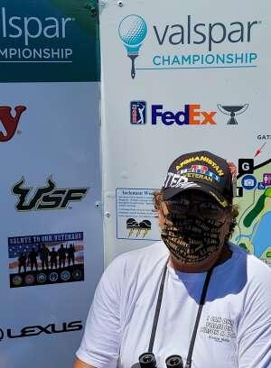 Jo Ann attended 2021 Valspar Championship - PGA on Apr 30th 2021 via VetTix