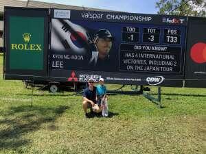 Tom T.   USMC-USNR 91-present attended 2021 Valspar Championship - PGA on Apr 30th 2021 via VetTix