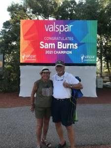 Thomas attended 2021 Valspar Championship - PGA on May 2nd 2021 via VetTix