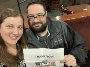 Kristin  attended Comedian Craig Gass from Family Guy, King of Queens & Sex and The City on Apr 1st 2021 via VetTix