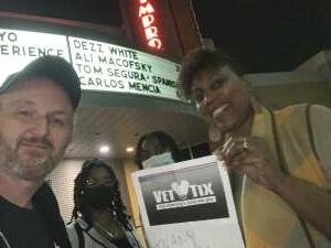 Randy attended Michael Yo - Family Show on Apr 1st 2021 via VetTix