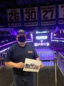David attended New Jersey Devils vs. Buffalo Sabres - NHL on Apr 6th 2021 via VetTix