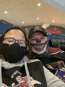 Tiffany Midkiff attended Tucson Roadrunners vs. Henderson on Apr 2nd 2021 via VetTix