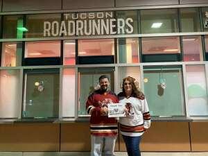 Woody attended Tucson Roadrunners vs. Henderson on Apr 2nd 2021 via VetTix