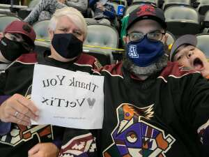 Bill attended Tucson Roadrunners vs. Henderson on Apr 3rd 2021 via VetTix