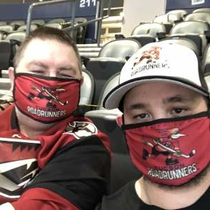 John attended Tucson Roadrunners vs. Henderson on Apr 3rd 2021 via VetTix