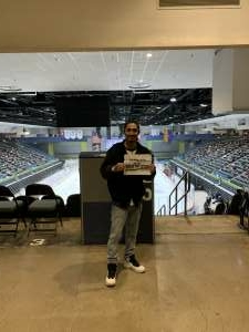 Abe attended Tucson Roadrunners vs. Henderson on Apr 3rd 2021 via VetTix