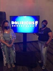 Regina m attended Delirious Comedy Club on Apr 8th 2021 via VetTix