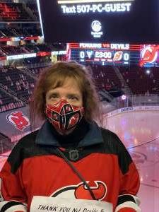 Lucie attended New Jersey Devils vs. Pittsburgh Penguins - NHL on Apr 9th 2021 via VetTix