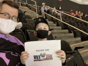 CAPT Rob Hughes attended New Jersey Devils vs. Pittsburgh Penguins - NHL on Apr 9th 2021 via VetTix