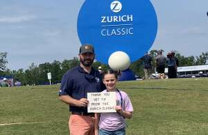 Jay S. attended Zurich Classic of New Orleans - PGA - Weekly Passes on Apr 21st 2021 via VetTix