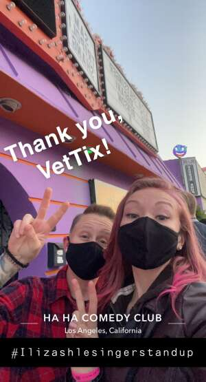 Sarah attended Ha Ha Comedy Club on May 6th 2021 via VetTix