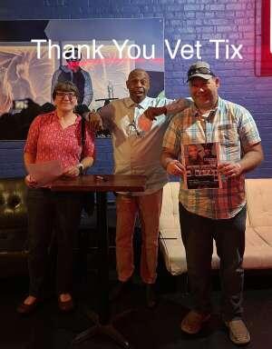 Chris&Rebecca attended Michael Winslow Comedy in Louisville on Jun 12th 2021 via VetTix