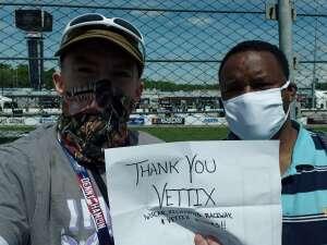 Daniel Norris attended Toyotacare 250 - NASCAR on Apr 17th 2021 via VetTix
