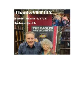 Tom & Geri Ferry attended The Eagles Greatest Hits performed by Classic Albums Live on Apr 17th 2021 via VetTix