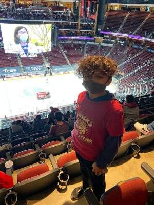 Susie attended Arizona Coyotes vs. Minnesota Wild on Apr 19th 2021 via VetTix