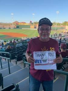 Matt NIesz attended Arizona State University Sun Devils vs. Oregon State on May 15th 2021 via VetTix