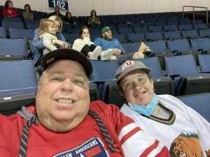 Shane attended Allen Americans vs. Utah Grizzlies - ECHL on Apr 25th 2021 via VetTix