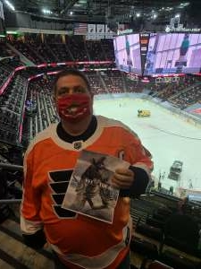 John B attended New Jersey Devils vs. Philadelphia Flyers - NHL on Apr 27th 2021 via VetTix