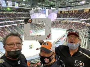 Fred attended New Jersey Devils vs. Philadelphia Flyers - NHL on Apr 27th 2021 via VetTix